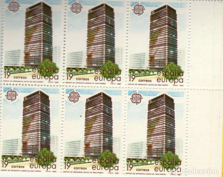 Sellos: ***EUROPA 1987 - ARTES MODERNOS*** - 2 BLOQUES DE 6 SELLOS (2 VALORES) - Edifil 2904-05- AÑO 1987 - Foto 2 - 147727570