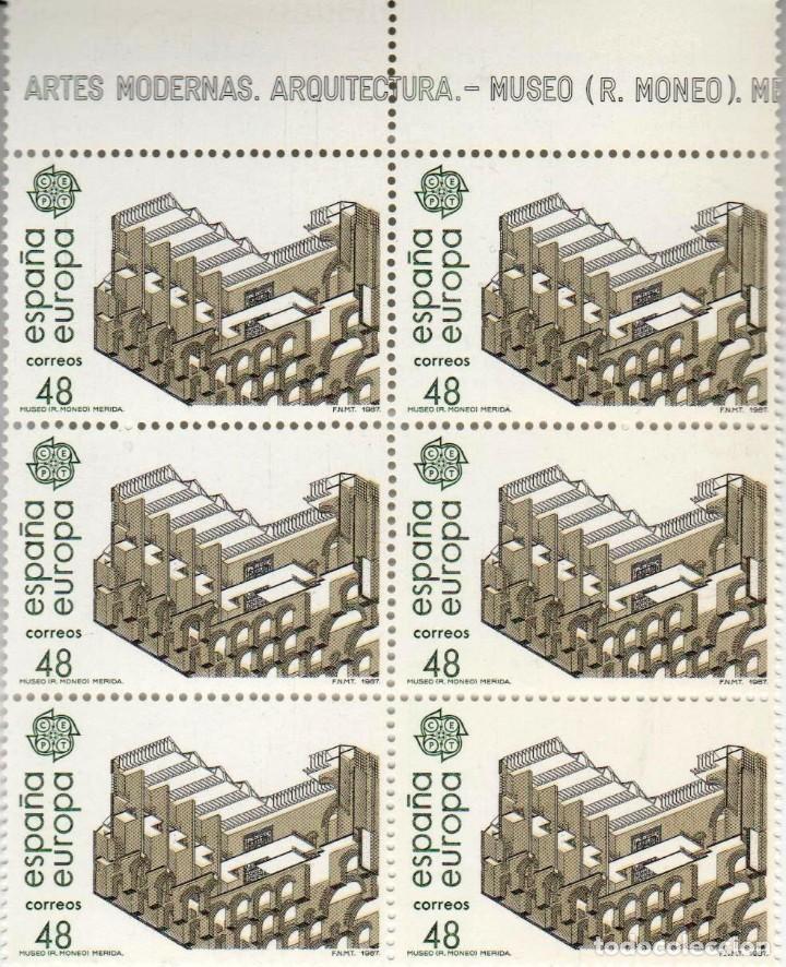 Sellos: ***EUROPA 1987 - ARTES MODERNOS*** - 2 BLOQUES DE 6 SELLOS (2 VALORES) - Edifil 2904-05- AÑO 1987 - Foto 3 - 147727570