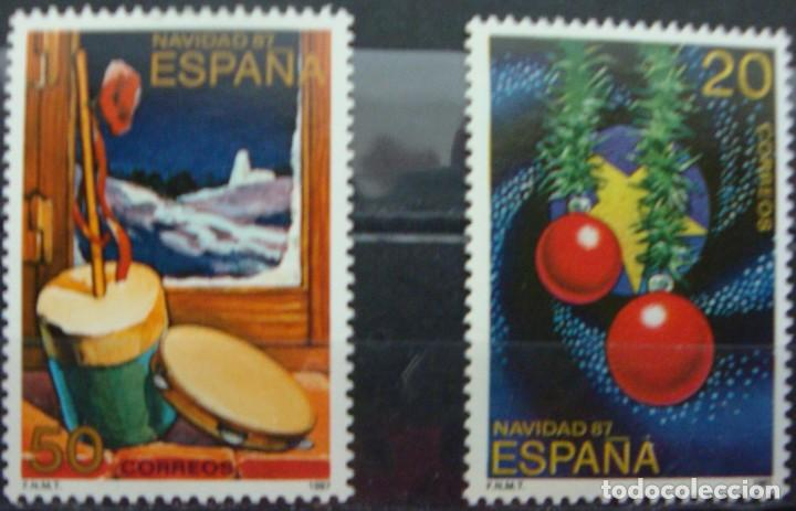 ***NAVIDAD 1987*** - 2 SELLOS (2 VALORES) - EDIFIL 2925-26- AÑO 1987 - NUEVO-LUJO (Sellos - España - Juan Carlos I - Desde 1.975 a 1.985 - Nuevos)
