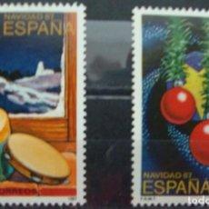 Sellos: ***NAVIDAD 1987*** - 2 SELLOS (2 VALORES) - EDIFIL 2925-26- AÑO 1987 - NUEVO-LUJO. Lote 147729062