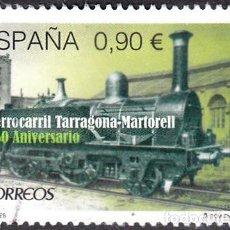 Sellos: 2015 - ESPAÑA - 150º ANIVERSARIO DEL FERROCARRIL TARRAGONA-MARTORELL - EDIFIL 4999. Lote 147970098