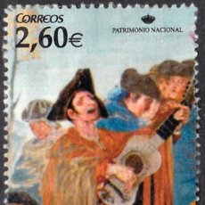 Sellos: 2008 - ESPAÑA - PATRIMONIO NACIONAL - TAPIZ DE GOYA - EL CIEGO DE LA GUITARRA - EDIFIL 4428. Lote 147970606