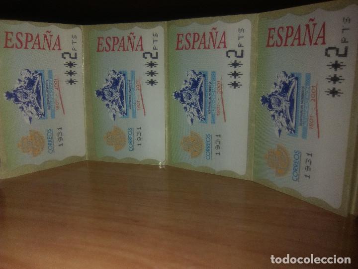 CUATRO SELLOS ETIQUETAS TERMICAS ADHESIVAS DE 2 PTAS (Sellos - España - Juan Carlos I - Desde 1.975 a 1.985 - Nuevos)