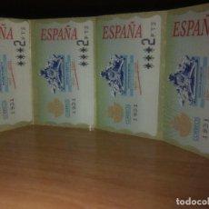 Sellos: CUATRO SELLOS ETIQUETAS TERMICAS ADHESIVAS DE 2 PTAS. Lote 148002410