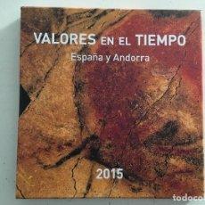 Sellos: LIBRO CARPETA ALBUM OFICIAL DE CORREOS 2015 DE ESPAÑA Y ANDORRA ESPAÑOLA CON LOS SELLOS VALORES . Lote 148100838
