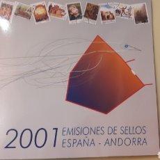 Sellos: 2001 EMISIONES DE SELLOS ESPAÑA Y ANDORRA SELLOS Y ESTUCHES OFICIAL CORREOS. Lote 148420586