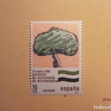 Sellos: 1984 - ESTATUTOS DE AUTONOMIA - EDIFIL 2735 - EXTREMADURA.. Lote 148856550