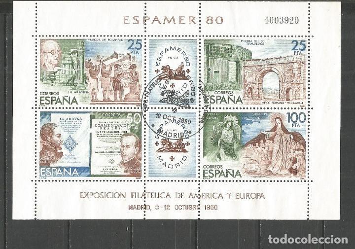 ESPAÑA ESPAMER´80 HOJA BLOQUE EDIFIL NUM. 2583 MATASELLADA (Sellos - España - Juan Carlos I - Desde 1.975 a 1.985 - Nuevos)