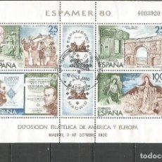 Sellos: ESPAÑA ESPAMER´80 HOJA BLOQUE EDIFIL NUM. 2583 MATASELLADA. Lote 148977126
