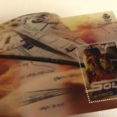 Sellos: HOJA BLOQUE SELLO HAN SOLO STAR WARS . Lote 149139074