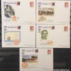 Sellos: 1999-ESPAÑA SOBRES ENTEROS POSTAL FILATELIA´99 EDIFIL.57 (A/E) - 5 ILUSTRACIONES - VC: 50 €. Lote 177956642