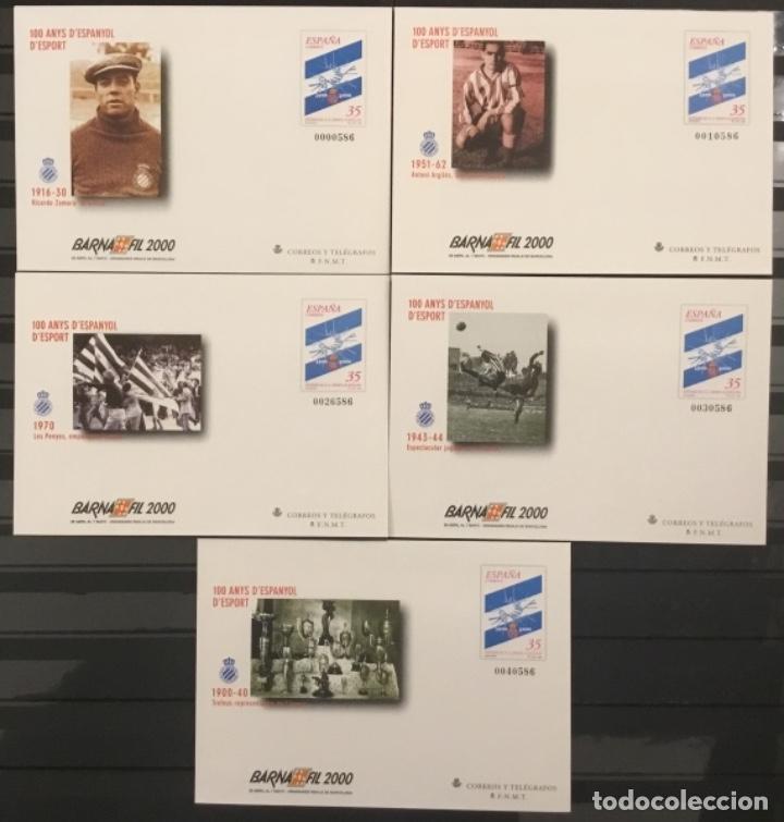 2000-ESPAÑA SOBRES ENTERO POSTALES EDIFIL 59 (A/E) BARNAFIL´2000. 100 AÑOS DEL ESPAÑOL. VC: 50 € (Sellos - España - Juan Carlos I - Desde 2.000 - Nuevos)