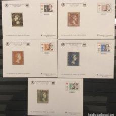 Sellos: 2000-ESPAÑA SOBRES ENTERO POSTALES XXXII FERIA NACIONAL DEL SELLO EDIFIL 60/64 VC: 50 €. Lote 178156363
