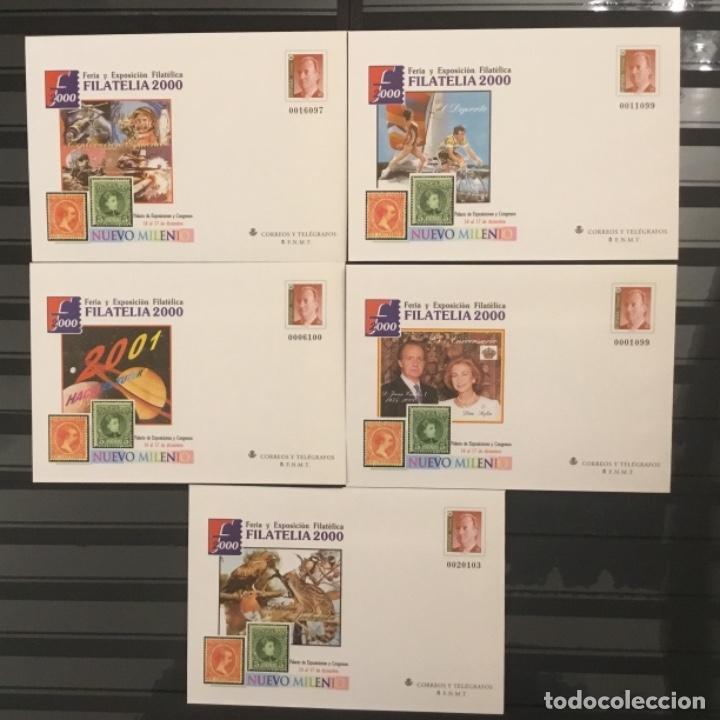 2000-ESPAÑA SOBRES ENTEROS POSTALES FERIA Y EXPOSICIÓN FILATELIA´2000 EDIFIL 67 (A/E). VC: 50 € (Sellos - España - Juan Carlos I - Desde 2.000 - Nuevos)