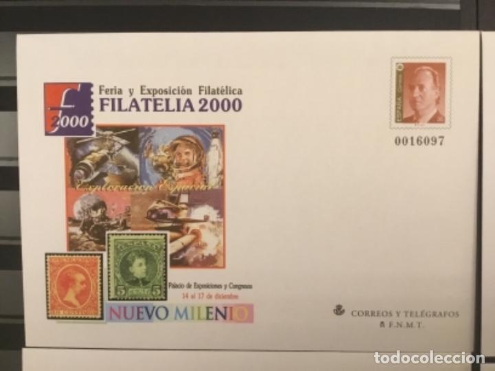 Sellos: 2000-ESPAÑA Sobres enteros postales Feria y exposición FILATELIA´2000 EDIFIL 67 (a/e). VC: 50 € - Foto 2 - 172824672