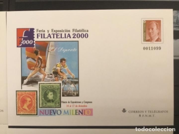 Sellos: 2000-ESPAÑA Sobres enteros postales Feria y exposición FILATELIA´2000 EDIFIL 67 (a/e). VC: 50 € - Foto 3 - 172824672