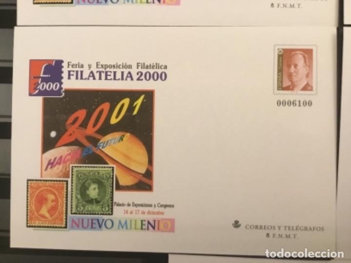 Sellos: 2000-ESPAÑA Sobres enteros postales Feria y exposición FILATELIA´2000 EDIFIL 67 (a/e). VC: 50 € - Foto 4 - 172824672