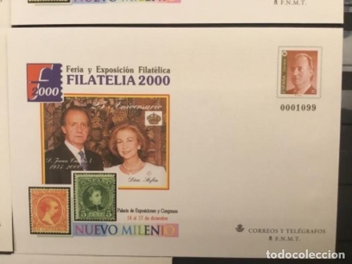 Sellos: 2000-ESPAÑA Sobres enteros postales Feria y exposición FILATELIA´2000 EDIFIL 67 (a/e). VC: 50 € - Foto 5 - 172824672