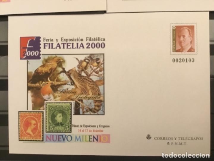 Sellos: 2000-ESPAÑA Sobres enteros postales Feria y exposición FILATELIA´2000 EDIFIL 67 (a/e). VC: 50 € - Foto 6 - 172824672