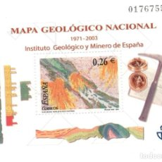Sellos: HOJITA MAPA GEOLOGICO NACIONAL - FACIAL 0,26. Lote 149894182