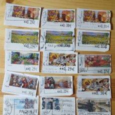 Sellos: LOTE DE 21 ATM ESPAÑA DISTINTOS Y VARIADOS. Lote 150171442