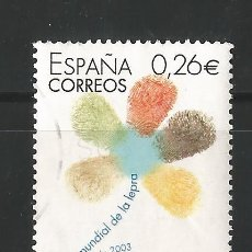 Sellos: ESPAÑA - 2003 - DIA MUNDIAL DE LA LEPRA - EDIFIL 3959. Lote 150477930