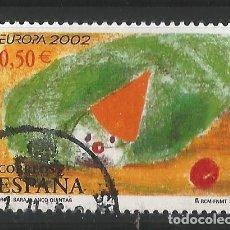 Sellos: ESPAÑA - 2002 - EUROPA - EDIFIL 3896. Lote 150478214