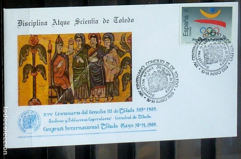 SOBRES ESPAÑA 1989- FOTO 160- CONGRESO INTER. TOLEDO (Sellos - España - Juan Carlos I - Desde 1.986 a 1.999 - Cartas)