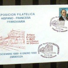 Sellos: FOTO 198 - 1989 EXPO. HISPANO-FRANCESA- ZARAGOZA. Lote 183295850