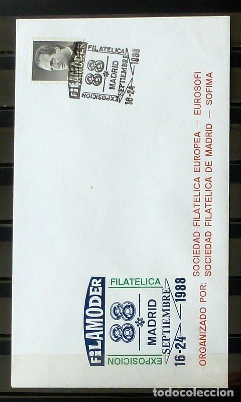 SOBRES ESPAÑA 1988 - FOTO 184- FILAMODER (Sellos - España - Juan Carlos I - Desde 1.986 a 1.999 - Cartas)