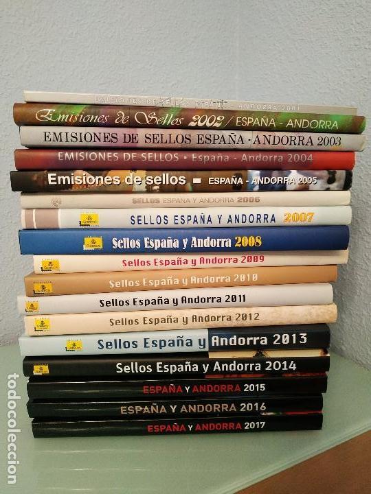 LIBROS OFICIALES DE SELLOS 2001-2017. ESPAÑA Y ANDORRA. (Sellos - España - Juan Carlos I - Desde 2.000 - Nuevos)