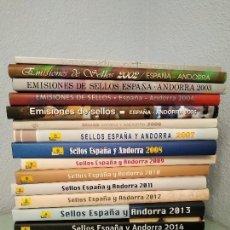 Sellos: LIBROS OFICIALES DE SELLOS 2001-2017. ESPAÑA Y ANDORRA.. Lote 150792970