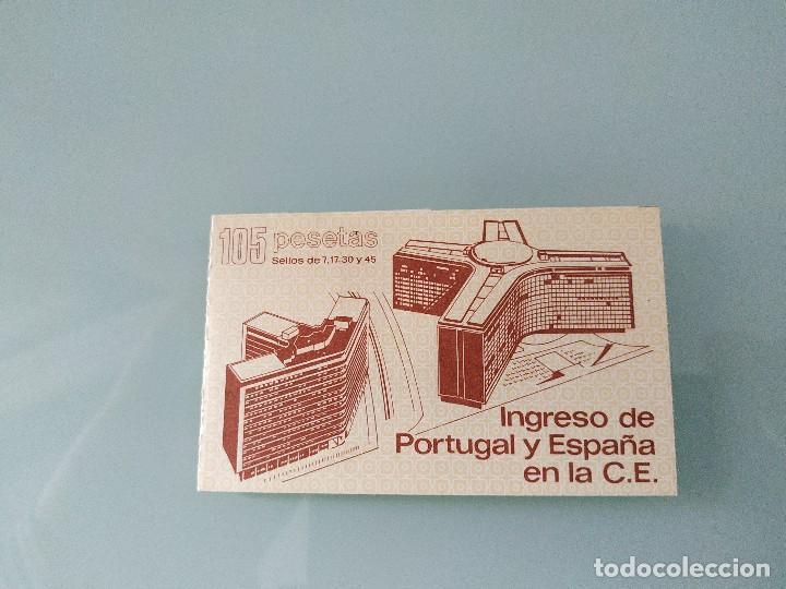 CARTERA INGRESO ESPAÑA Y PORTUGAL EN LA CE (Sellos - España - Juan Carlos I - Desde 1.986 a 1.999 - Nuevos)