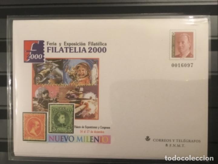 Sellos: 2000-ESPAÑA Sobres enteros postales Feria y exposición FILATELIA´2000 EDIFIL 67 (a/e). VC: 50 € - Foto 7 - 172824672