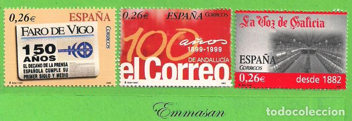 EDIFIL 4027-4028-4029. DIARIOS CENTENARIOS. (2003).** NUEVOS SIN FIJASELLOS. (Sellos - España - Juan Carlos I - Desde 2.000 - Nuevos)
