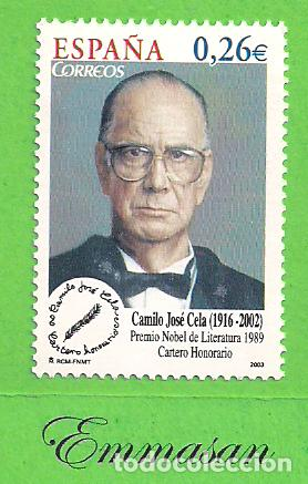 EDIFIL 4030. CAMILO JOSÉ CELA. (2003).** NUEVO SIN FIJASELLOS. (Sellos - España - Juan Carlos I - Desde 2.000 - Nuevos)