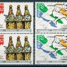 Sellos: ESPAÑA 1987. EDIFIL 2908/09** + NOMINACIÓN BARCELONA COMO SEDE OLÍMPICA 1992. Lote 151126902