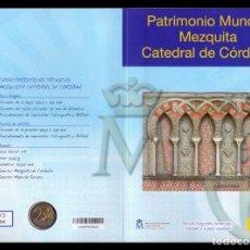 Sellos: ESPAÑA CORREOS FNMT PATRIMONIO MUNDIAL MEZQUITA DE CÓRDOBA 2 € + SELLOS 2010. Lote 151233158