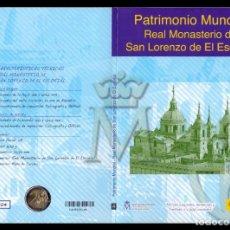 Sellos: ESPAÑA CORREOS FNMT PATRIMONIO MUNDIAL MONASTERIO EL ESCORIAL 2 € + SELLOS 2013. Lote 151234554