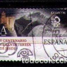 Sellos: ESPAÑA 2015 - V CENTENARIO DE SANTA TERESA DE JESUS - EDIFIL Nº 4930** - SELLO A - USADO. Lote 155905256