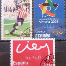 Sellos: ESPAÑA - EDIFIL Nº 4156/58 SERIE USADA - DEPORTES - CENT. SEVILLA Y SPORTING GIJON. Lote 152065274