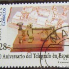 Sellos: ESPAÑA - EDIFIL Nº 4162 SERIE USADA - 150º ANIV. TELEGARAFO EN ESPAÑA. Lote 152065350