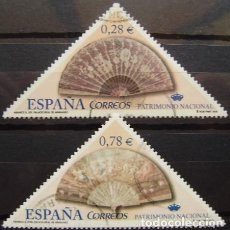 Sellos: ESPAÑA - EDIFIL Nº 4164A Y C SELLOS USADOS - PATRIMONIO NACIONAL - ABANICOS. Lote 152065422