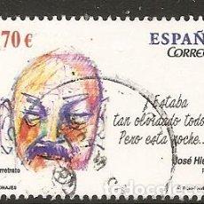 Sellos: ESPAÑA 2012. PERSONAJES. JOSE HIERRO. EDIFIL Nº 4716. Lote 152179754