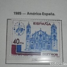 Sellos: ESPAÑA 2782*** - AÑO 1985 - AMERICA - ESPAÑA - ESPAMER 85 - CATEDRAL DE LA HABANA. Lote 152255382