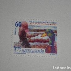 Sellos: ESPAÑA EDIFIL 3394*** AÑO 1995 - AMERICA - UPAEP - PREVENCION DEL SISTEMA ECOLOGICO - FAUNA - AVES. Lote 152255574