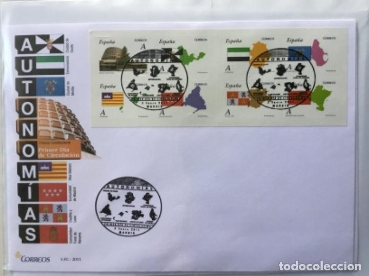 ESPAÑA 2011 - COLECCIÓN SOBRES PRIMER DÍA 2011 (Sellos - España - Juan Carlos I - Desde 2.000 - Cartas)