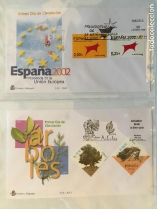 Sellos: España 2002 - Colección Sobres primer día 2002 - Foto 2 - 152374130