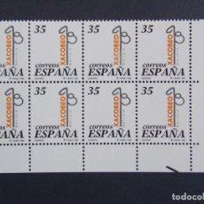 Sellos: XACOBEO 99 - COMPLETA EN BLOQUE DE 8 SELLOS, EDIFIL 3525 - AÑO 1998, ESPAÑA... A1383. Lote 152414862