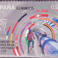 Sellos: 2014 - ESPAÑA - 60º ANIVERSARIO ORGANIZACION EUROPEA INVESTIGACION NUCLEAR - EDIFIL 4849. Lote 152463726